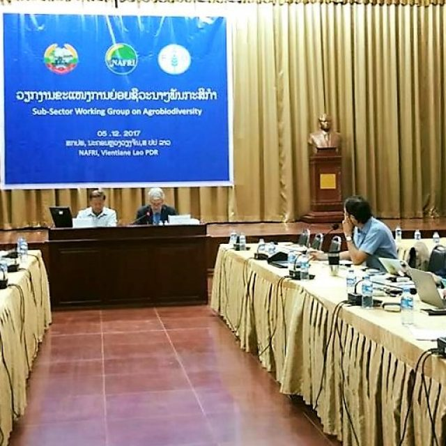 Sub Sector Working group meeting on Agrobiodiversity, 5 December 2017, Vientiane, Lao PDR