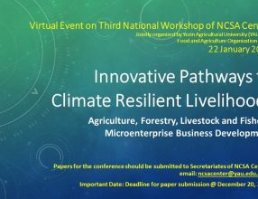 "Call for Papers: 3rd National Workshop on ""Innovative Pathways to Climate Resilient Livelihoods"""