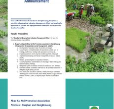 Khao Kai Noi Geographical Indication Management Officer – Gret Lao PDR