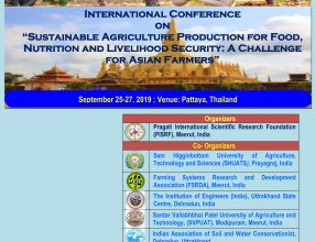 """Sustainable Agriculture Production for Food, Nutritional and Livelihood Security: A Challenge for Asian Farmers"", September 25-27, 2019, Pattaya, Thailand"