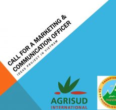 Call for a marketing & communication officer – Agrisud International, Vietnam