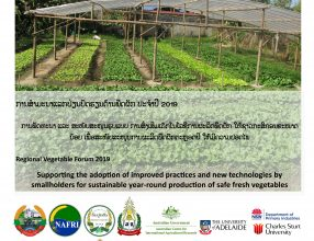 Regional Vegetable Forum 2019 Sharing knowledge and experience to promote development of vegetable and improve income of smallholders