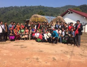 Young farmer field forum on coffee in Keoset, Khoun district, Xiengkhuang province, 18-22 February 2019