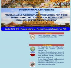 """Sustainable Agriculture Production for Food, Nutritional and Livelihood Security: A Challenge for Asian Farmers"", October 16-18, 2019, Lao PDR"