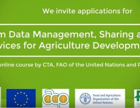 Call for Applications for the online course on Farm Data Management, Sharing and Services for Agriculture Development