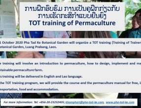 TOT training of Permaculture, 26-31 October 2020, Luangprabang, Lao PDR