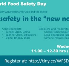 """FAO/OIE/WFP/WHO food safety webinar – Food safety in the """"new normal"""", Wednesday, June 03, 2020"""