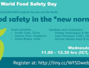 "FAO/OIE/WFP/WHO food safety webinar – Food safety in the ""new normal"", Wednesday, June 03, 2020"
